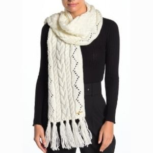 Michael Kors Pointelle Cable Knit Scarf